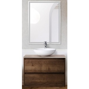 Мебель для ванной BelBagno Kraft со смесителем, Rovere Tabacco (SET-KRAFT-700-RT-C-BB344-LOY-GRT-600/800)