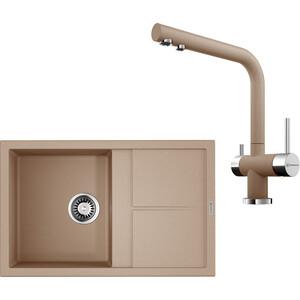 Кухонная мойка и смеситель Omoikiri Sumi 79-SA бежевый (4993664, 4994055)