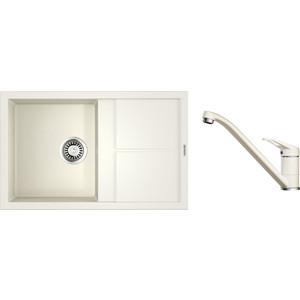 Кухонная мойка и смеситель Omoikiri Sumi 79-WH белый (4993665, 4994164)