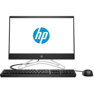 Моноблок HP 200 G3 AiO black (Pen J5005/4Gb/128GbSSD/noDVD/VGA int/WF/BT/DOS/kb+ms) (4YW26ES)