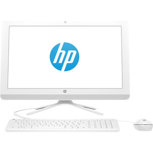 Моноблок HP 22-c0018ur white (Core i3 8130U/4Gb/1Tb/DVD-RW/VGA int/DOS) (4HD56EA)