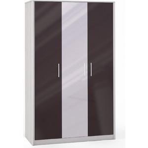 Шкаф 3 дверный (2+1) с 1 зеркалом Шатура Opera Шоколад FU3-01.DCP 484668 шкаф купе бостон вар 1 без зерк 1100 540 2150 бук шоколад шатура бостон