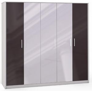 Шкаф 5 дверный (2+1+2) с 3 зеркалами Шатура Opera Шоколад FU3-01.DCP 484674 шкаф купе бостон вар 1 без зерк 1100 540 2150 бук шоколад шатура бостон