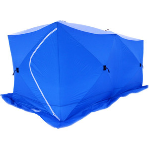 Палатка для зимней рыбалки Стэк Куб-3 трехслойная Дубль фото