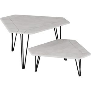 Стол журнальный Калифорния мебель ТЕТ-А-ТЕТ белый бетон