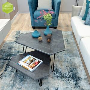 Стол журнальный Калифорния мебель ТЕТ-А-ТЕТ серый бетон