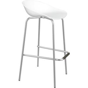 Барный стул Sheffilton SHT-ST19/S29 белый/хром лак