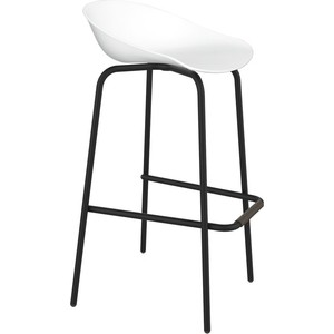 Барный стул Sheffilton SHT-ST19/S29 белый/черный муар