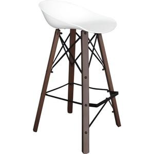 Барный стул Sheffilton SHT-ST19/S80 белый/темный орех/черный