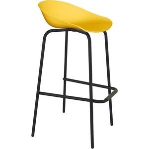 Барный стул Sheffilton SHT-ST19/S29 желтый/черный муар