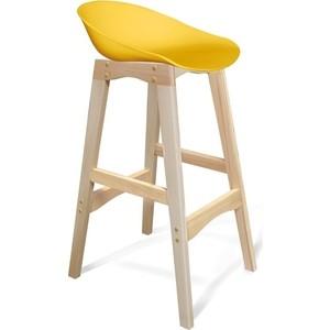 Барный стул Sheffilton SHT-ST19/S65 желтый/прозрачный лак цена в Москве и Питере