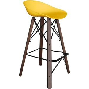 цена на Барный стул Sheffilton SHT-ST19/S80 желтый/темный орех/черный