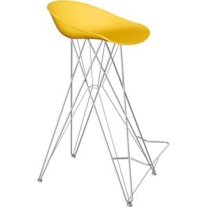 Барный стул Sheffilton SHT-ST19/S66 желтый/хром лак