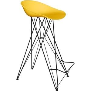 Барный стул Sheffilton SHT-ST19/S66 желтый/черный муар