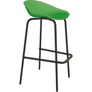 Барный стул Sheffilton SHT-ST19/S29 зеленый/черный муар фото