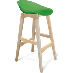 Барный стул Sheffilton SHT-ST19/S65 зеленый/прозрачный лак