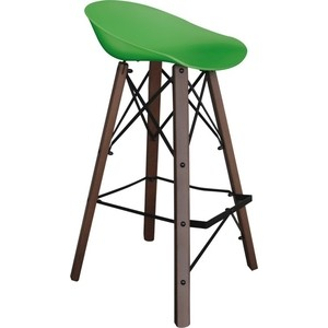 цена Барный стул Sheffilton SHT-ST19/S80 зеленый/темный орех/черный онлайн в 2017 году