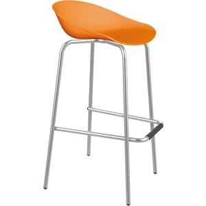 Стул барный Sheffilton SHT-ST19/S29 оранжевый/хром лак