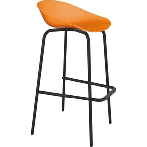 Барный стул Sheffilton SHT-ST19/S29 оранжевый/черный муар фото