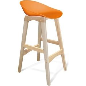 Барный стул Sheffilton SHT-ST19/S65 оранжевый/прозрачный лак цена в Москве и Питере