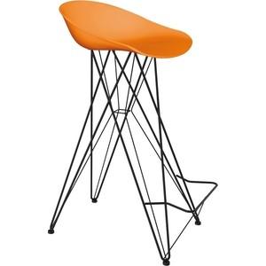 Барный стул Sheffilton SHT-ST19/S66 оранжевый/черный муар фото