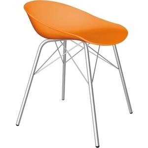 Стул Sheffilton SHT-ST19/S64 оранжевый/хром лак фото