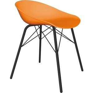 Стул Sheffilton SHT-ST19/S64 оранжевый/черный муар фото