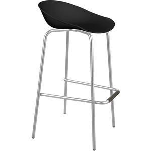 Барный стул Sheffilton SHT-ST19/S29 черный/хром лак