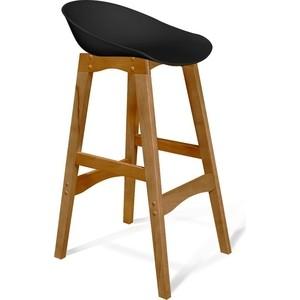 Барный стул Sheffilton SHT-ST19/S65 черный/светлый орех фото