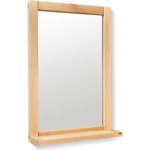Зеркало с полкой Sheffilton Альберо SHT-M2 прозрачный лак