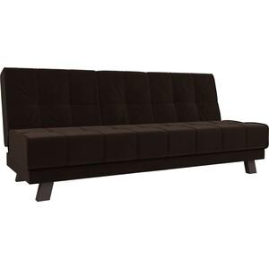 Прямой диван Лига Диванов Винсент микровельвет коричневый
