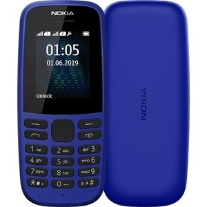 Мобильный телефон Nokia 105 DS 2019 (TA-1174) blue смартфон nokia 1 ds ta 1047 dark blue