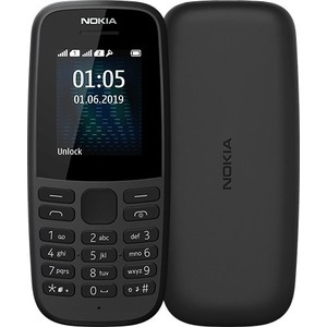 Мобильный телефон Nokia 105 DS 2019 (TA-1174) black смартфон nokia 1 ds ta 1047 dark blue