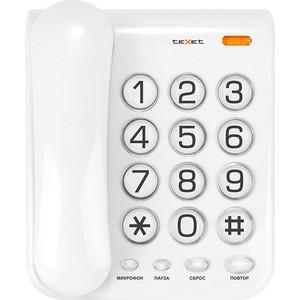 Проводной телефон TeXet TX-262 светло-серый