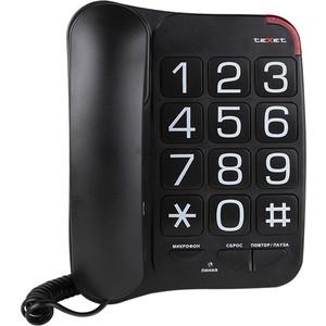 Проводной телефон TeXet TX-201 черный