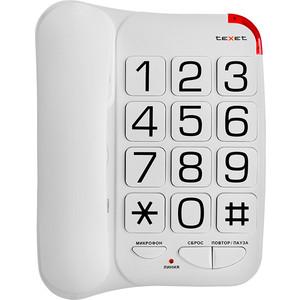 Проводной телефон TeXet TX-201 белый