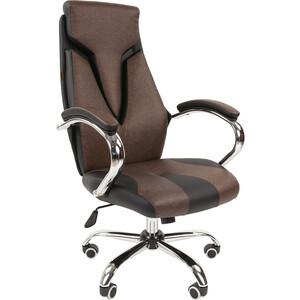 Офисноекресло Chairman 901 экопремиум черный/коричневый