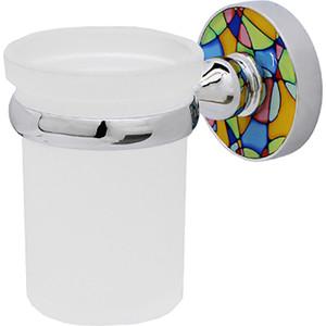 Держатель стакана Wasserkraft Diemel хром/белый, одинарный (K-2228)