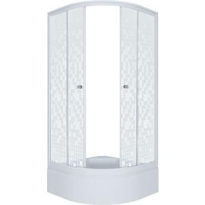 Душевой уголок Triton Стандарт В 100х100 профиль белый, стекла Аква мозайка (Щ0000025932)