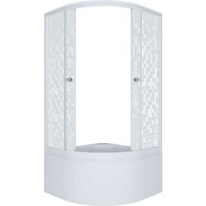 Душевой уголок Triton Стандарт Б 90х90 профиль белый, стекла Аква мозайка (Щ0000025436)