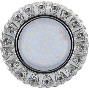 Светильник Imex IL.0028.1303 GX53+LED 4W 4000K, встраиваемый ПОЛИКРИСТАЛЛ CH/CLEAR