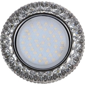Светильник Imex IL.0028.1603 GX53+LED 4W 4000K, встраиваемый ПОЛИКРИСТАЛЛ CH/CLEAR