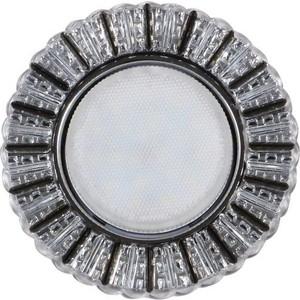 Светильник Imex IL.0028.2022 GX53+LED 4W 4000K, встраиваемый ПОЛИКРИСТАЛЛ CH/CLEAR+GRAY