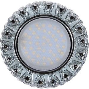 Светильник Imex IL.0028.1318 GX53+LED 4W 4000K, встраиваемый ПОЛИКРИСТАЛЛ CH/CLEAR+BK