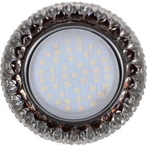 Светильник Imex IL.0028.1618 GX53+LED 4W 4000K, встраиваемый ПОЛИКРИСТАЛЛ CH/CLEAR+BK