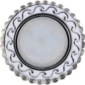 Светильник Imex IL.0028.1715 GX53+LED 4W 4000K, встраиваемый ПОЛИКРИСТАЛЛ CH/CLEAR+WH встраиваемый светильник elektrostandard 1066 gx53 ch хром 4690389078682