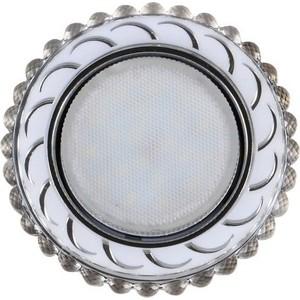 цена Светильник Imex IL.0028.1815 GX53+LED 4W 4000K, встраиваемый ПОЛИКРИСТАЛЛ CH/CLEAR+WH