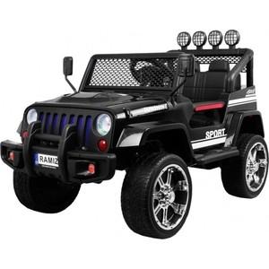 Детский электромобиль Little Sun Black Jeep 4WD 12V - S2388