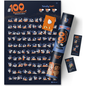 Интерактивный скретч постер 1DEA.me 100 bucketlist kamasutra edition
