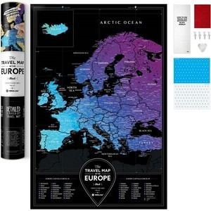 Карта 1DEA.me Travel map black europe